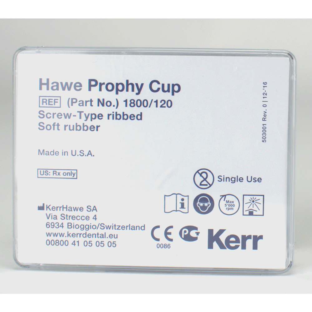 KERRHAWE: 1800/120 - Prophy-Cup Screw-Type 1800 grau 120St