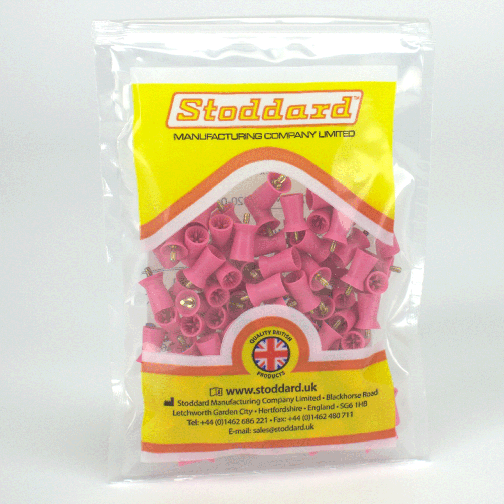 STODDARD: PSC011 - Prophy Cups 4 Web soft Screw pink 100St